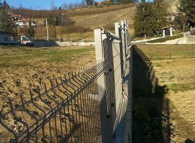 Rete plastic posa in opera recinzioni edilizia civile e for Muretto recinzione dwg
